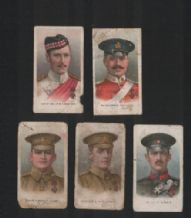 5 old tobacco insert cigarette cards VC Heroes    #568